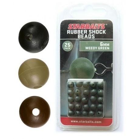 Rubber Shock Beads 6mm Koralik Brązowy